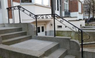 Création rampe d'escalier en métal forgé